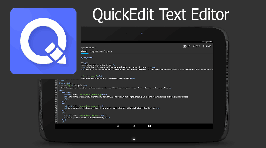 QuickEdit Text Editor – Writer, Code Editor