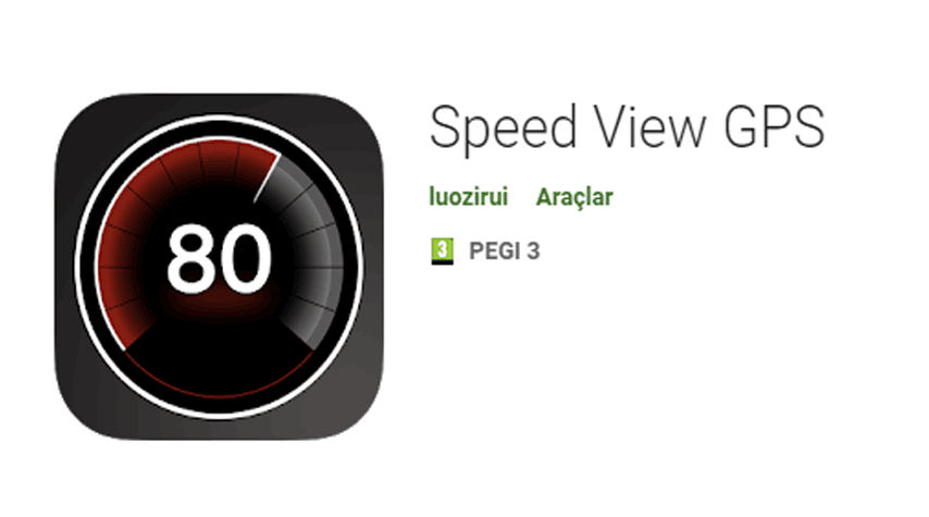 Speed View GPS Android App