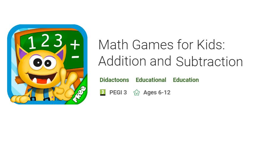 Buddy School: Basic Math learning for kids