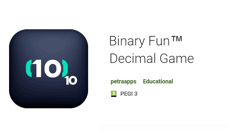 Binary Fun™ Decimal Game