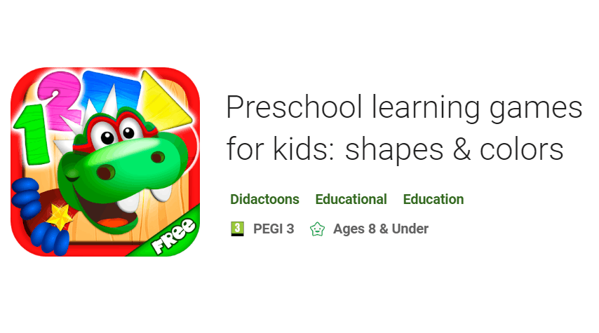 Preschool learning games for kids: shapes & colors