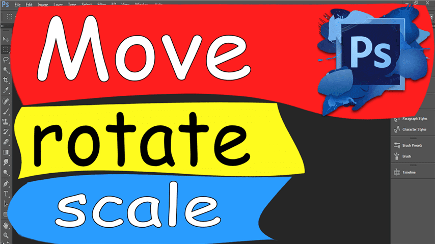 11 Photoshop – Easily Move, rotate and scale resize the objects