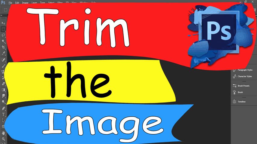 16 Photoshop – Easily Trim Image