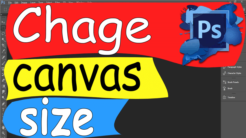18 Photoshop – Easily Change canvas size