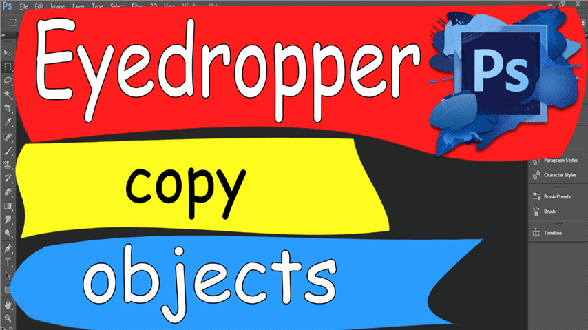 24 Photoshop – Easily Eyedropper Copy Objects Color