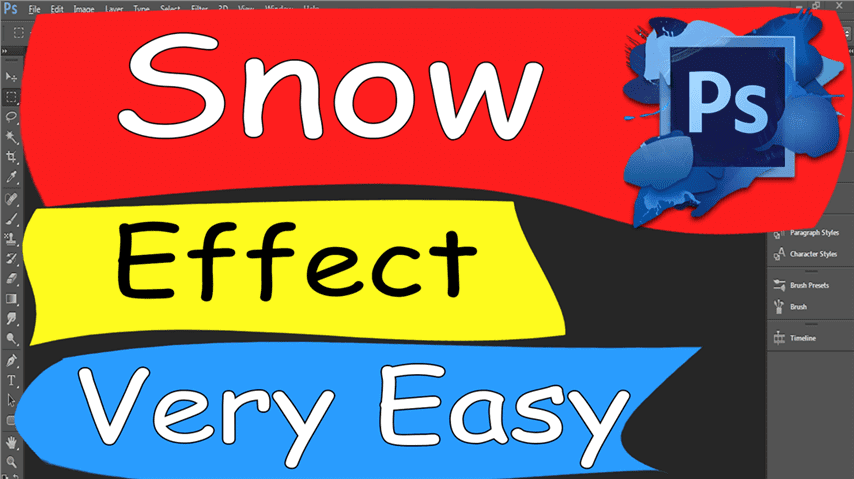 25 Photoshop – Easily Snow Effect Very Easy