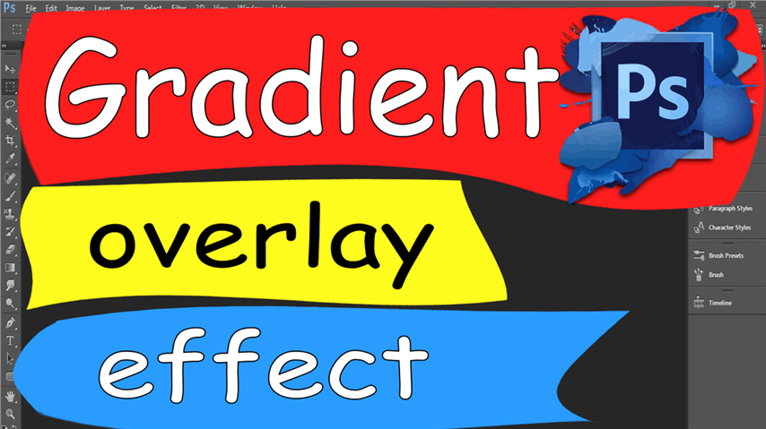 29 Photoshop – Easily Gradient Overlay Effect