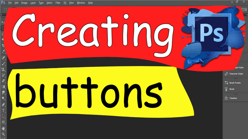 09 Photoshop – Easily Creating buttons