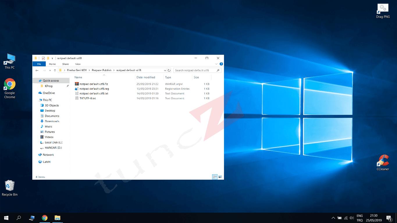 Varsayılan Dosya Türü Ayarlama – Notepad Her zaman UTF-8 Yapma