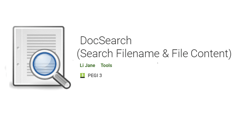 DocSearch Search Filename and File Content